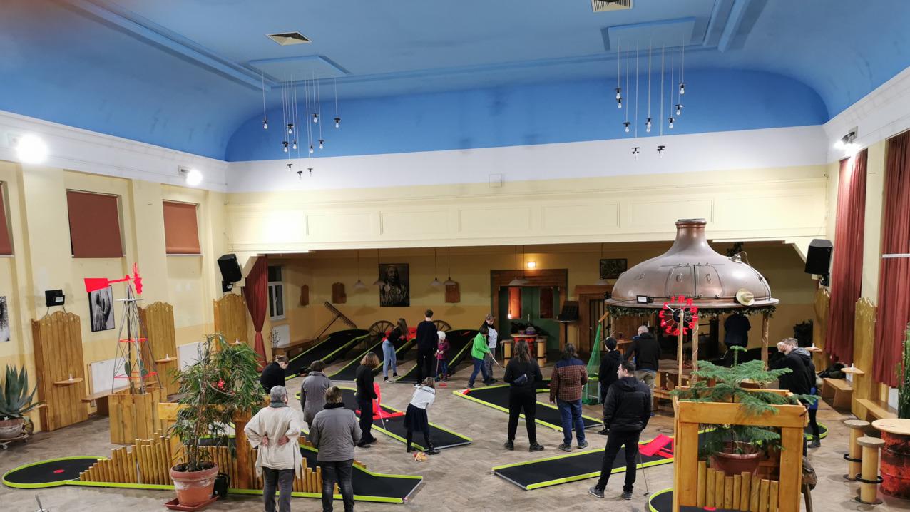 Indoor-Minigolf im Bautzener Brauhaus